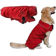 Resistente al agua perro perros grandes abrigo de invierno forrado Perros Chaqueta Abrigo de Lluvia Invierno