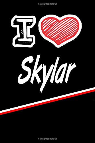Skylar: I Love Name Writing Journal por Rob Cole