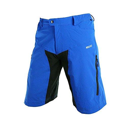 Lixada Herren Outdoor Sport MTB Hose ohne Sitzpolster (Blau, 2XL(CN))