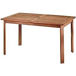 Mesa de Comedor para jardín de Madera marrón Garden - LOLAhome