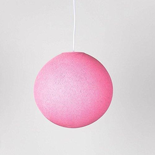 Cotton ball lights–lampada a sospensione singolarmente 31cm, cotone, soft rosa