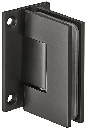 Modernes Bad-Türscharnier für Glastüren und Duschen Duschtürband schwarz Glastürbeschlag Messing | H2046 | Duschkabinen-Scharnier für Wand zu Glas Verbindung | Glastürband Messing graphit-schwarz