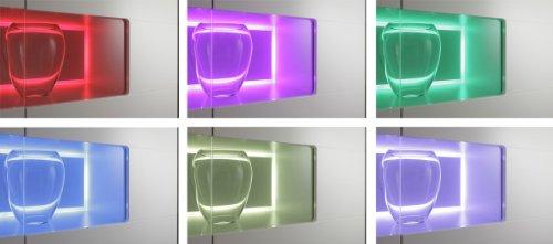 Wohnwand COLOGNE Anbauwand Weiß, Fronten Hochglanz,optional LED-Beleuchtung, Beleuchtung:mit Beleuchtung - 3