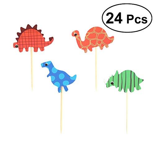 (STOBOK Dinosaurier Kuchen Topper Cupcake Dekoration Partei Cocktail Dekoration Sticks Geburtstag Party Supplies 24st)