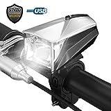 SunTime LED Fahrradbeleuchtung StVZO Zugelassen Fahrradlicht Automatisch Einstellen Wasserdichte USB Aufladbare Fahrradlichter Sets Mountainbike-Licht für Nacht-Radfahren