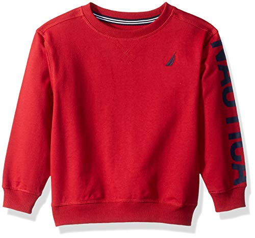 Nautica Boys' French Terry Pullover Printed French Terry Hoodie