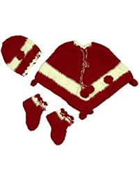CutiePie Collections Baby Girl's Handmade Woollen Sweater Cum Frock Set, 0-6 Months(Multicolour, hand-set-235)
