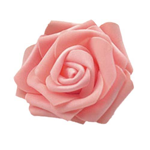 50x Foamrosen Schaumrosen Schaumköpfe Künstliche Blume Brautstrauß Party Hause Dekor Rosen Rosenköpfe - Rosa Champagner