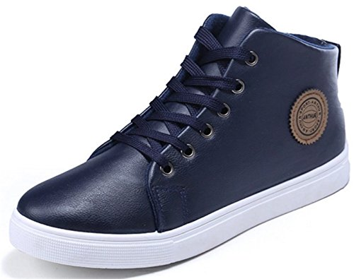 DADAWEN Hommes Chaussures Montantes Confortable Marron