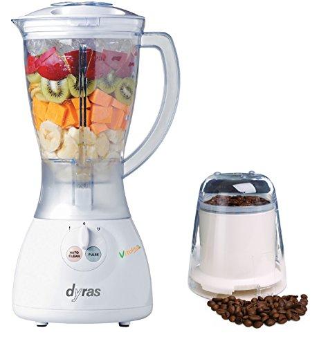 dyras® ''Vitality'' Power Stand-Mixer, Kaffee-Mühlen-Aufsatz, 400W (max. 800W), 1,5l Mixbehälter, 2 Geschwindigkeitsstufen - ideal für die Zubereitung von cremigen Suppen, Soßen, Cocktails, Milchshakes und das Mahlen von Kaffee, Zerkleinern von Nüssen, Zucker, Keksen Stand-mixer Hamilton Beach