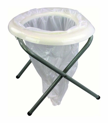 Highlander Portable Toilet Campingtoilette, weiß, One Size