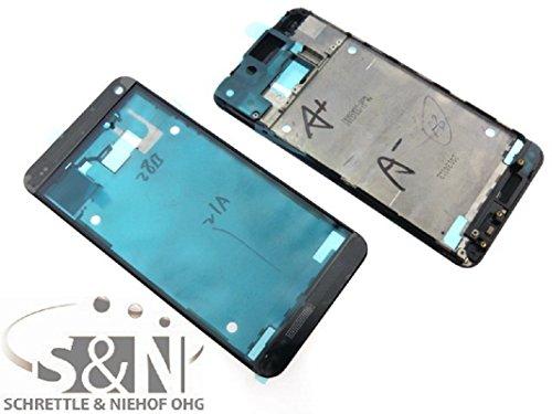 HTC ONE M7 Gehäuse Frontcover für Display inkl. Kleber Schale, schwarz