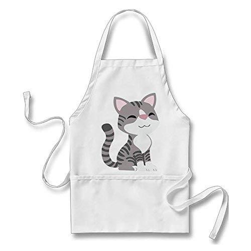 Mesllings Delantal Cocina diseño Gato Sonriente Sonriente