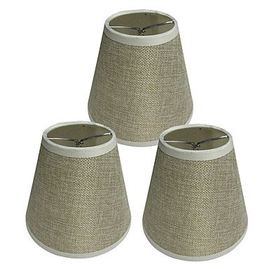 YPO 3pcs 15cm Bulb Accessory Lampshade Linen, Rice Yellow (Lampenschirm Rice)