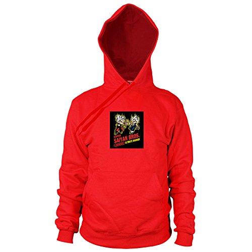 Planet Nerd DBZ: Super Saiyan Bros Game - Herren Hooded Sweater, Größe: XXL, Farbe: - Kampf Der Planeten Kostüm