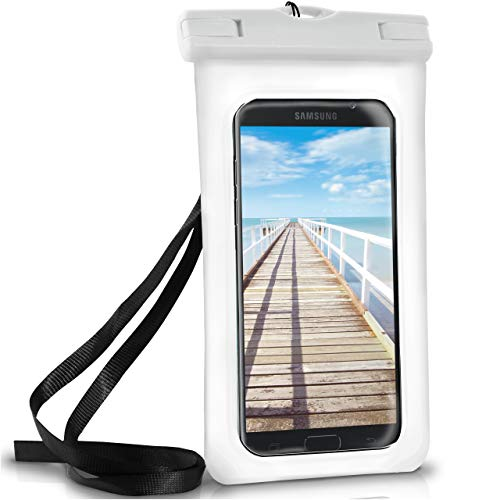 ONEFLOW Wasserdichte Hülle für Samsung Galaxy | Full Cover in Weiß 360° Unterwasser-Gehäuse Touch Schutzhülle Water-Proof Handy-Hülle für Galaxy A3 A5 A6 A7 2018 2017 UVM Case Handy-Schutz