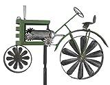 HOLZWURM Gartenstecker Metall Traktor Trecker Grün MT85 Windspiel Windrad Wetterfest Gartendeko Garten Gartenstab Bodenstecker