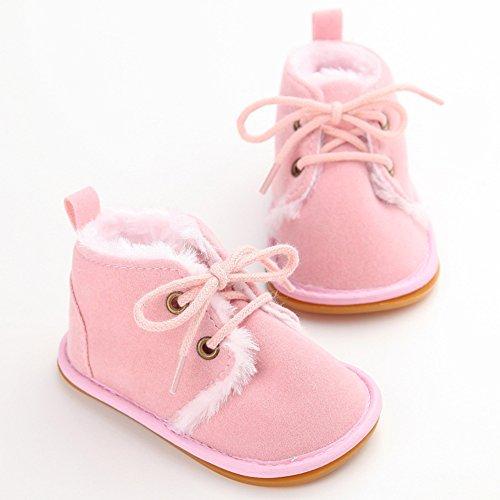 Just easy Babyschuhe Lauflernschuhe Krabbelschuhe Winter Baby Mädchen Jungen Rosa
