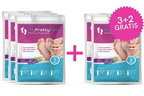My Pretty Feet   Das Original   (5 Paar) Fußmaske zur Hornhautenfernung   Anti Hornhaut Socken & Fuß Peeling   3+2 gratis