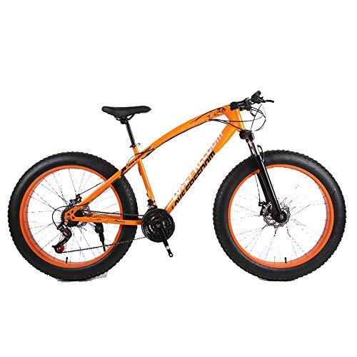 DRAKE18 Fat Bike, 26 Pulgadas Cross Country Mountain Mountain 27 Speed Beach Snow Mountain 4.0 neumáticos...
