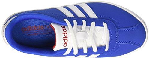 adidas Jungen Vlcourt K Halbschuhe mehrfarbig (Blue/Ftwwht/Powred)