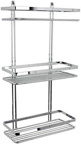 Satina WIRE Triple Shelf Shower Basket Chrome 3-Tier by Satina
