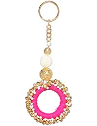 Zephyrr Fancy Key Ring Key Chain Fashion Purse Accessory Tassels With Pearl Beads. For Girls And Women