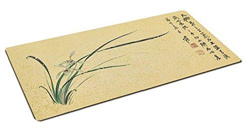 Haofengjing Mauspad Chinesischer Stil Kalligraphie Groß Mauspad Pinsel Vogel Kalligraphie Tischset, A 30X70 (Große Kalligraphie-pinsel)