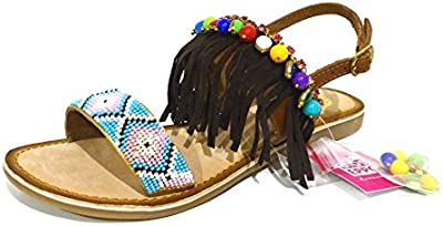 Nu-Sandalias pies gios eppo bulletin, diseño tribal cheyenne, color marrón