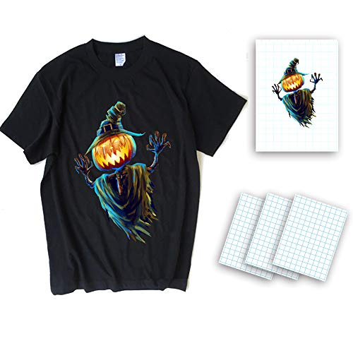 "Dark T-Shirt Transfers A4 T-Shirt Transfers Heat Transfer Sheets Paper for Inkjet Printers, for Dark Fabric 8.27"" X 11.7"" (12 Sheets) Print Iron on Make You Hallowmas Shirt"
