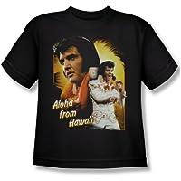 Elvis Presley-Aloha, ragazzi, colore: nero, taglia: S/S-T-Shirt da ragazzo