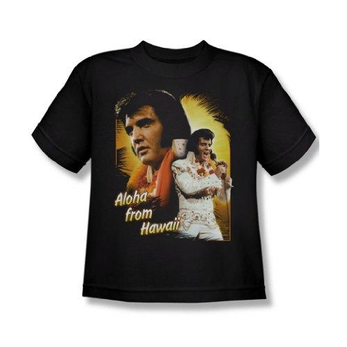 Elvis Presley-Aloha, ragazzi, colore: nero, taglia: S/S-T-Shirt da ragazzo Nero  nero