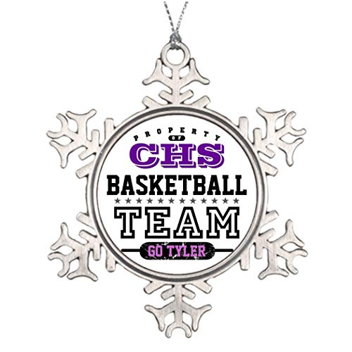 DKISEE Tree Branch Decoration School Sport Team Customized Snowflake Ornament Cross Country 3 inches Aluminum Metal Christmas Ornament Keepsake -