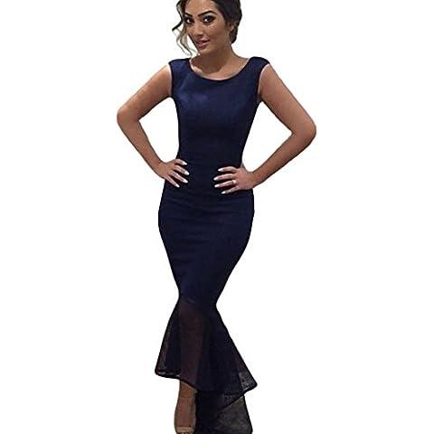 Nuovo Blu Tulle Jersey abito da sera Prom Dress abito da cocktail party wear Accappatoio taglia UK 8, 10, 12