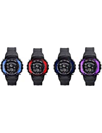 Kairos Digital Seven Light Combo Wrist Watch For Boy's & Kid's (Pack Of 4) - B07F37TPD2