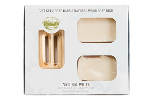 Natural White Soap Bar - Hypoallergenic, Fragrance Free and Dye Free - Handmade Organic Bar for Sensitive Skin. Moisturizing Body Soap for Skin and Face. With Shea Butter, Coconut Oil
