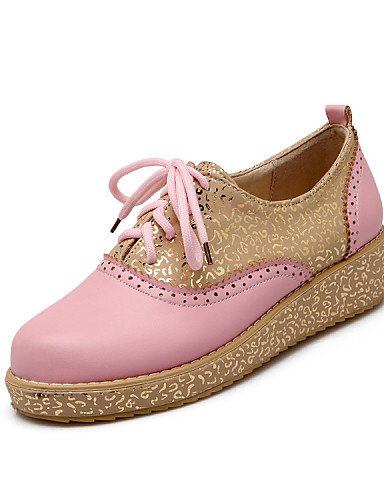 ZQ hug Scarpe Donna-Stringate-Tempo libero / Casual / Sportivo-Punta arrotondata-Piatto-Finta pelle-Marrone / Giallo / Rosa / Bianco , pink-us9.5-10 / eu41 / uk7.5-8 / cn42 , pink-us9.5-10 / eu41 / uk brown-us6 / eu36 / uk4 / cn36