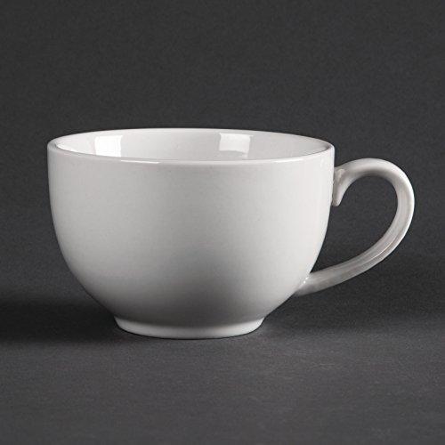 Tasses élégantes blanches Olympia Contenance : 228ml. Quantité par boîte : 12