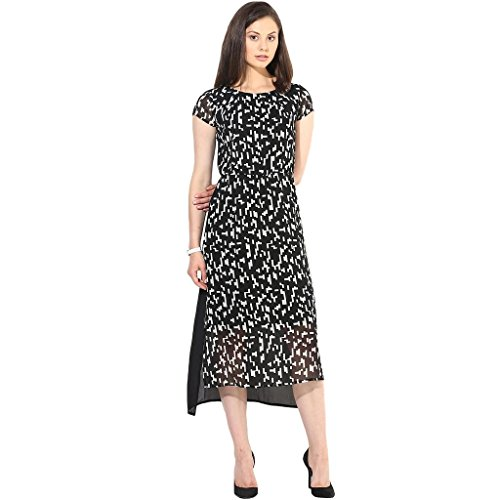 The Vanca Women Black Casual Dress In Print  available at amazon for Rs.330