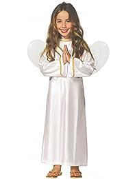 Engel Kostümmit Flügeln für Mädchen Gr. 98-146