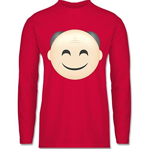 Opa - Opa Emoji - Longsleeve / langärmeliges T-Shirt für Herren Rot