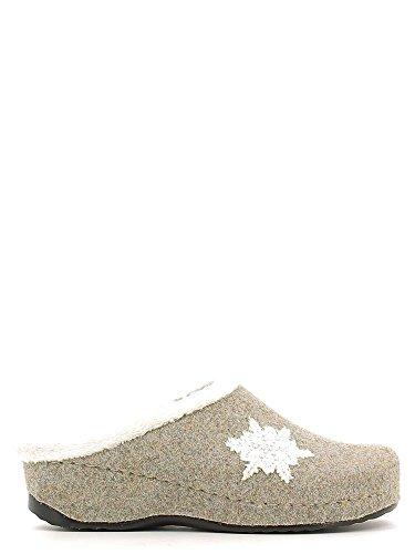 Grunland CI1088 Pantofola Donna Pietra