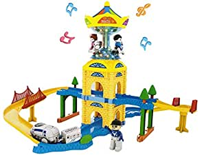 Blossom 44PCs Train Toy Set for Kids with Sound and Lights / Train Track Puzzle Game for Girls and Boys with Music
