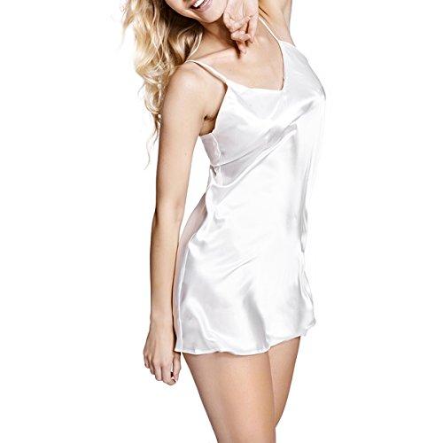 SOPHIE - Classic semplice camicia da notte in raso con