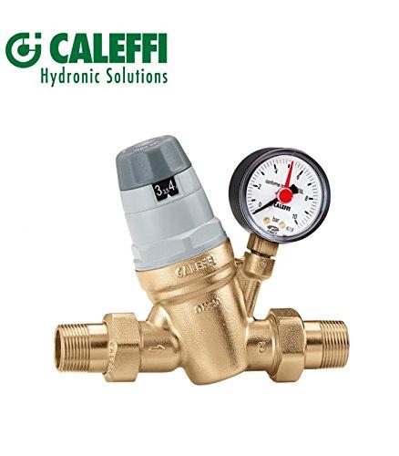 CALEFFI Riduttore di pressione 3/4\'\' con Cartuccia Monoblocco Estraibile con Manometro 535051