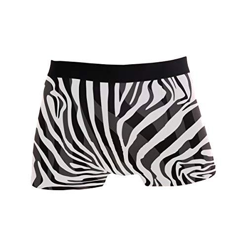 ALARGE Herren Boxershorts, abstraktes Tier-Zebramuster, Kurze Unterwäsche, weiche Stretch-Unterhose für Herren und Jungen, S-XL Gr. S, Multi