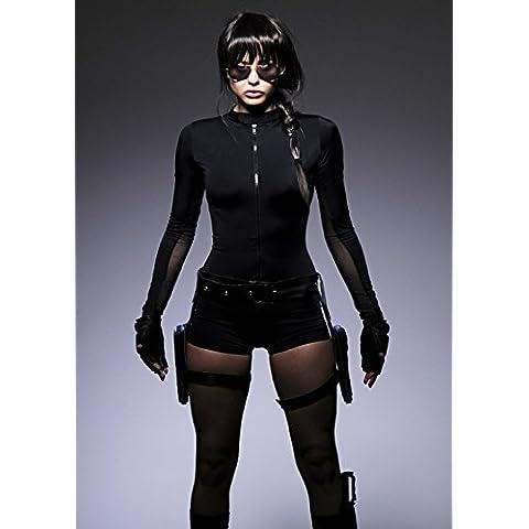 Womens Lara Croft estilo traje S (UK 8-10)
