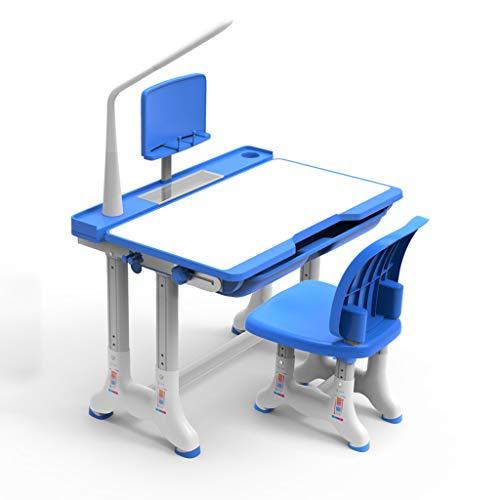 Ensembles de tables et chaises Tables Et Chaises Ensemble Bureau Table De Travail Pour Fille Fille Bureau De Travail Pour Étudiant Tableau De Peinture Avec Cadre De Lecture Lampe De Protection Des Yeu