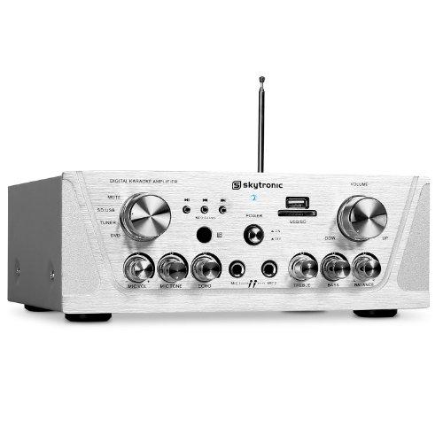 Skytronic Amplificador HiFi PA Karaoke MP3-USB-SD