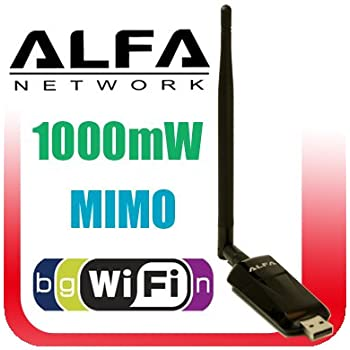 Alfa Network AWUS036NEH 802.11g/n High Gain USB Wireless G / N Long-Rang WiFi Network Adapter - Also works with Viewsonic vmp75